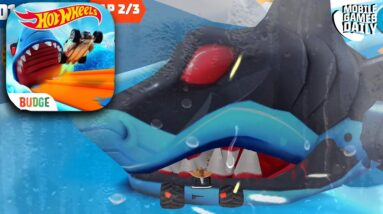 HOT WHEELS UNLIMITED All New Shark Attack Custom Track Gameplay (iOS, Android)
