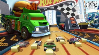 HOT WHEELS UNLIMITED Green Food Truck Car Unlocked Gameplay (iOS, Android)