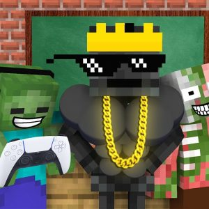 Monster School : BABY MONSTERS RICH AND POOR CHALLENGE ALL EPISODE - Minecraft Animation