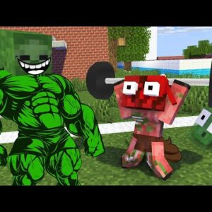 Monster School : BECOME STRONG FITNESS TRAINING Challenge - Minecraft Animation