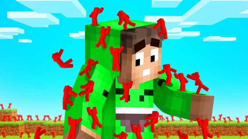 I Got Attacked By 10,000 Mini CLAY SOLDIERS In Minecraft...