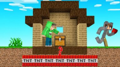 I Left A TRAPPED CHEST TROLL In My Friend's House! (Minecraft)