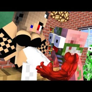 Monster School : BABY MONSTERS BECAME GIRLS CHALLENGE ALL EPISODE - Minecraft Animation