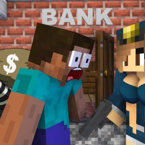 Monster School : BABY MONSTERS POLICE STORY CHALLENGE ALL EPISODE - Minecraft Animation