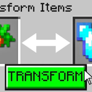 Minecraft, But You Can Transform Any Item...