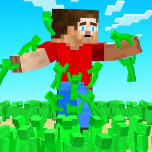 My friend sent 100,000 Clay Soldiers to Fight Me! (Minecraft)