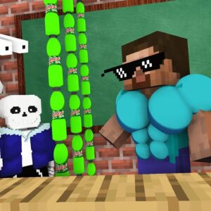 Monster School : BABY MONSTERS HORROR STORY CHALLENGE - Minecraft Animation