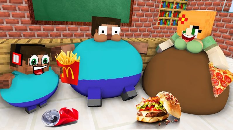 Monster School : BABY MONSTERS FAT FAMILY CHALLENGE ALL EPISODE - Minecraft Animation