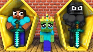 Monster School : Baby Monsters Zombie Family and Herobrine Family All Episode - Minecraft Animation