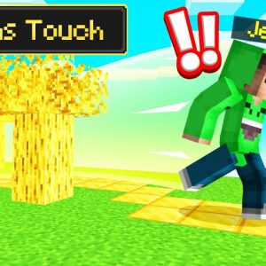 Everything I TOUCH Turns To GOLD! (Minecraft)