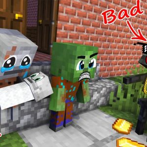 Monster School : BABY MONSTERS ZOMBIE AND SKELETON SAD STORY ALL EPISODE - Minecraft Animation