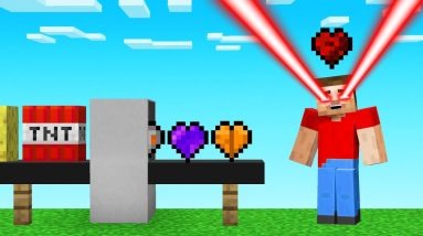 We Turned BLOCKS Into HEARTS For NEW ABILITIES! (Minecraft)